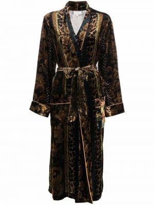 Коричневое разноцветное пальто Pierre-louis Mascia