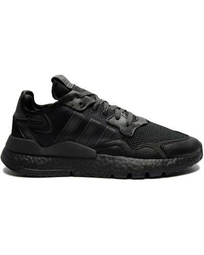 Кожаные черные кроссовки беговые для бега Adidas