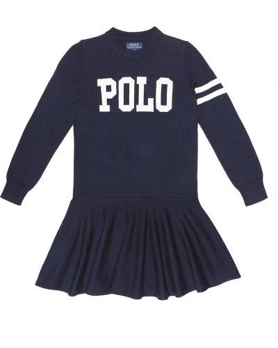 Платье мини с американской проймой шерстяное Polo Ralph Lauren Kids
