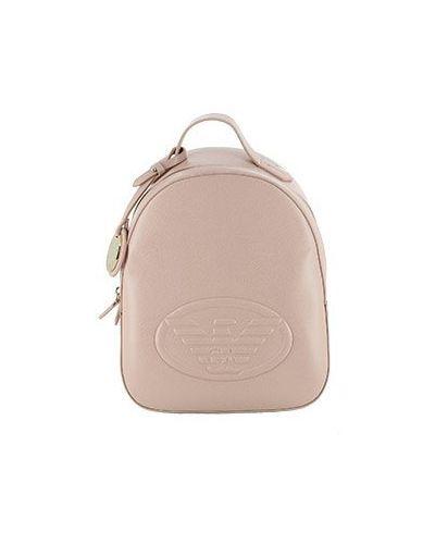 Рюкзак бежевый из искусственной кожи Emporio Armani