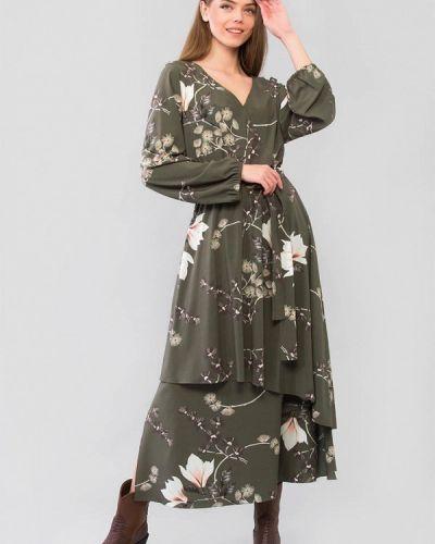 Зеленое платье с запахом Maxa