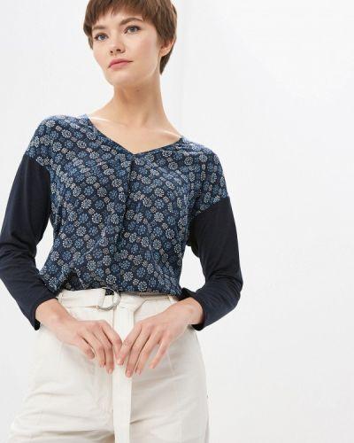 Блузка с длинным рукавом синяя весенний Weekend Max Mara