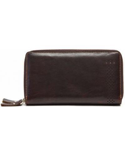 Кожаная сумка - коричневый Vintage