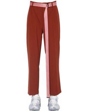 Spodnie wełniane z paskiem Botter
