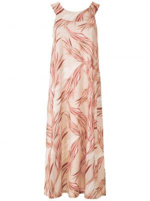 Платье миди розовое с абстрактным принтом Lygia & Nanny