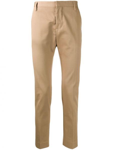 Бежевые укороченные брюки с поясом пэчворк Entre Amis