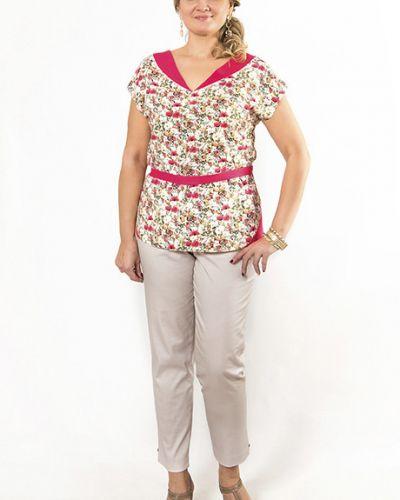 Блузка с поясом с цветочным принтом Virgi Style