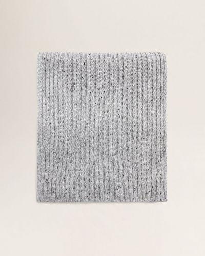 Серый шарф трикотажный Mango Man