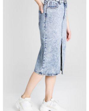 Юбка миди джинсовая классическая Ostin