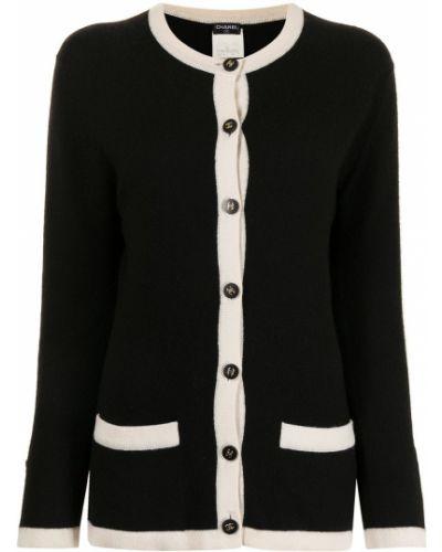 Черная кофта с вырезом Chanel Pre-owned