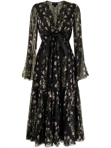Платье макси с длинными рукавами - черное Giambattista Valli