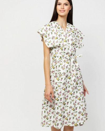 Прямое белое платье А-силуэта Dasti