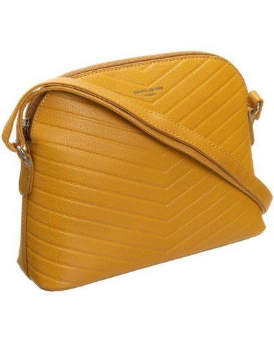 Żółta torebka crossbody skórzana miejska David Jones
