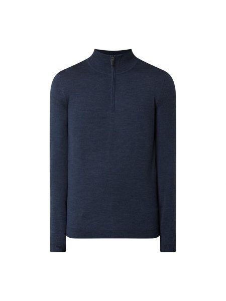 Sweter wełniany - turkusowy Boss Athleisurewear