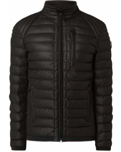 Czarny kurtka na paskach z kieszeniami z zamkiem błyskawicznym Wellensteyn