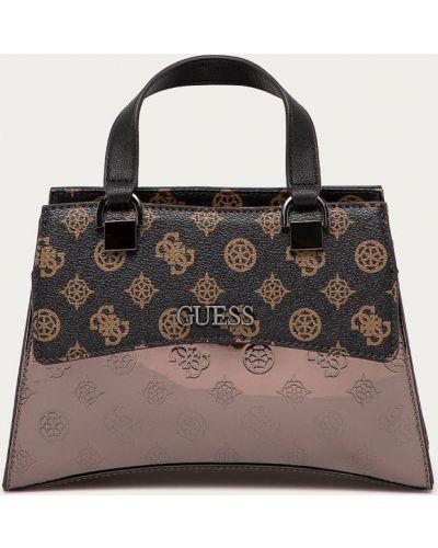 Brązowa torba z krótkimi uchwytami Guess