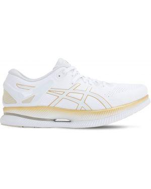 Ажурные белые кроссовки на шнуровке Asics