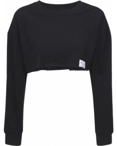 Czarna koszulka bawełniana Adam Selman Sport