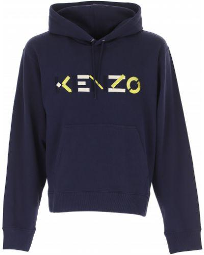 Długi sweter z kapturem bawełniany z długimi rękawami Kenzo