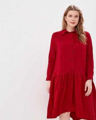 Повседневное платье бордовый красный Tutto Bene Plus