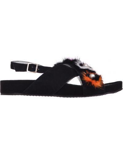 Кожаные сандалии - черные Marzetti
