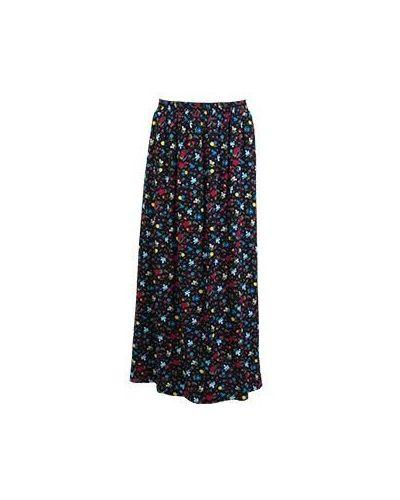Повседневная черная юбка из вискозы Moschino Love