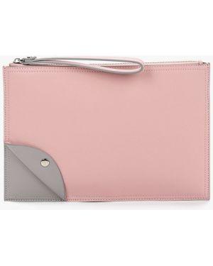 Розовая кожаная сумка из натуральной кожи Labbra