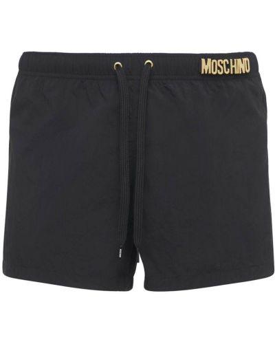 Czarne spodenki do pływania z siateczką Moschino Underwear
