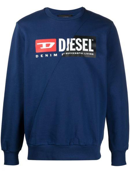 Bawełna z rękawami niebieski bluza Diesel