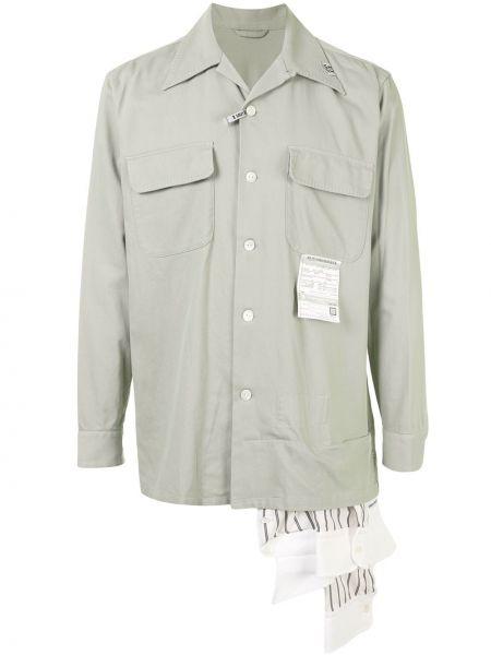 Прямая рубашка с воротником с нашивками на пуговицах Maison Mihara Yasuhiro