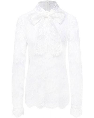Хлопковая белая блузка Dolce & Gabbana