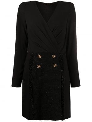 Облегающее черное платье мини с вырезом Liu Jo