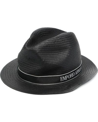 Черные шляпа узкого кроя Emporio Armani