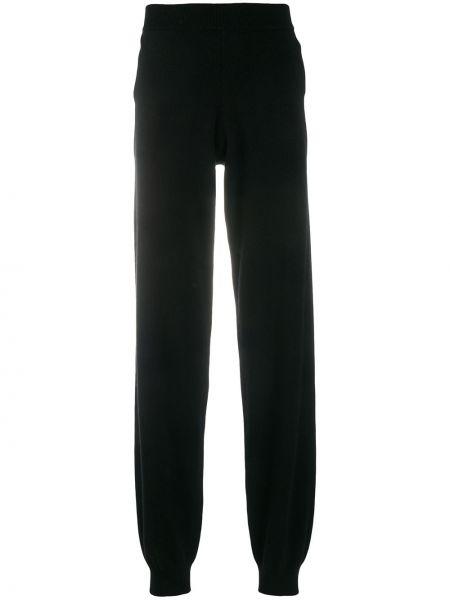 Кашемировые черные свободные брюки свободного кроя с воротником Frenckenberger
