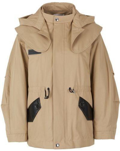 Beżowa kurtka z kapturem bawełniana Sonia Rykiel