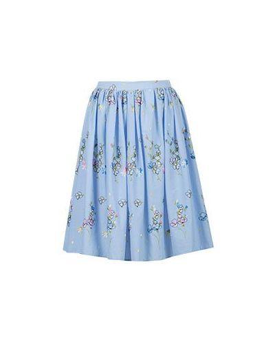 Хлопковая юбка - голубая Blugirl