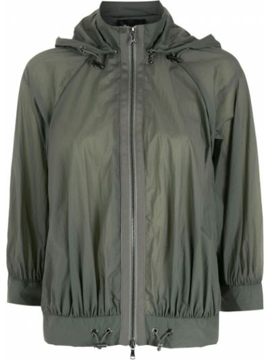 Куртка с капюшоном - зеленая Emporio Armani