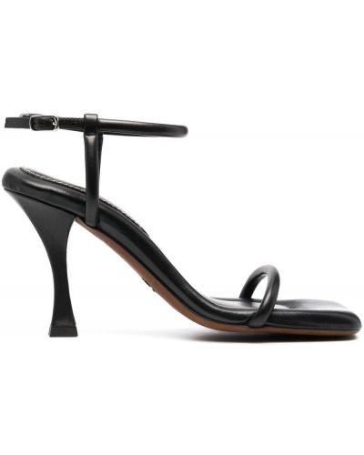 Czarne sandały skorzane klamry Proenza Schouler