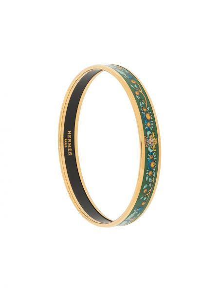 Zielona złota bransoletka ze złota pozłacana Hermes