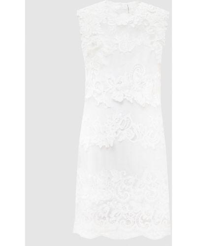 Ажурное белое платье миди Ermanno Scervino