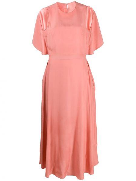 Розовое платье макси с открытой спиной без рукавов Stella Mccartney