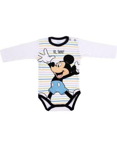 Микки маус хлопковое мягкое боди на кнопках Disney