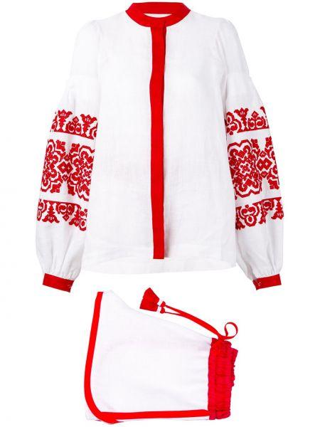 Льняной костюм - белый Yuliya Magdych