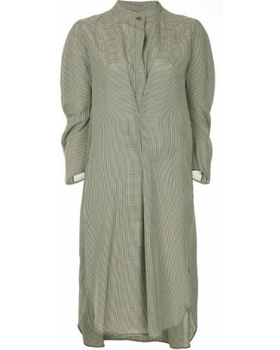 Платье в клетку с длинными рукавами Zero + Maria Cornejo