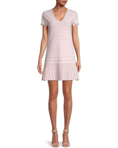 Розовое платье мини с V-образным вырезом из вискозы Ted Baker London