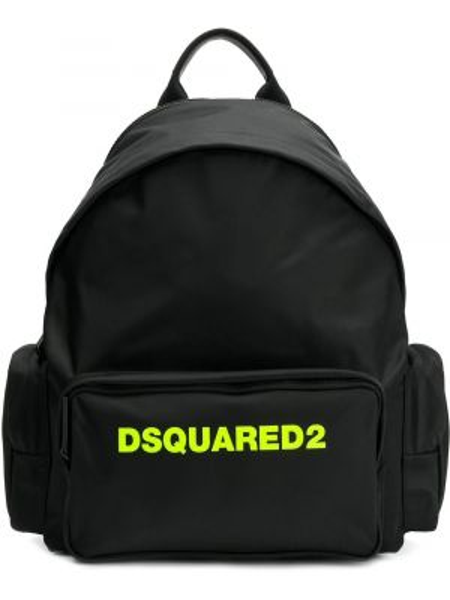 Plecak z printem - czarny Dsquared2