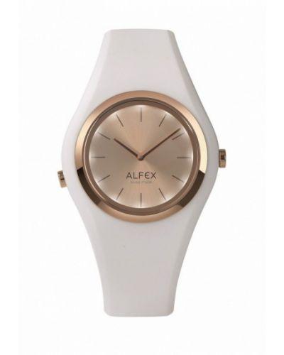 Белые часы швейцарские Alfex