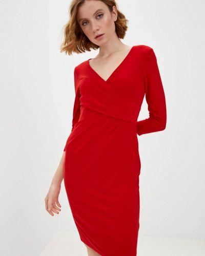 Красное платье-футляр Lauren Ralph Lauren