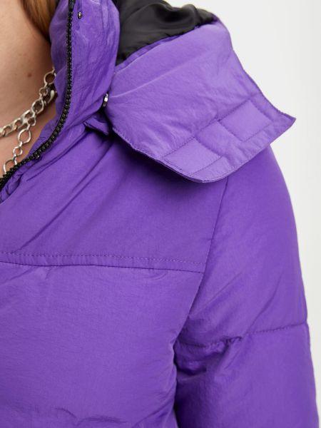 Фиолетовая куртка с капюшоном на молнии Defacto