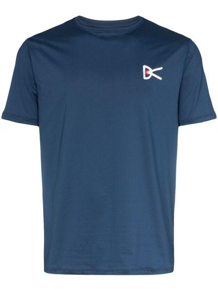 Niebieski t-shirt z printem do pracy District Vision